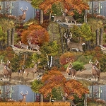 Forest 42259 X Forest Deer, Windham Fabrics