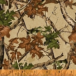 Forest 42262 2 Cream Camo Forest, Windham Fabrics