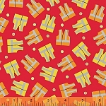 The Big Dig 42926 4 Safety Vest Red, Windham Fabrics