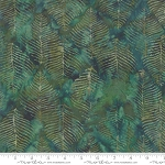 Splendor Batiks 4354 15 Beech Leaves Emerald, Holly Taylor by Moda