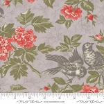 Quill 44151 12 Floral Bird Toile Grey, 3 Sisters by Moda