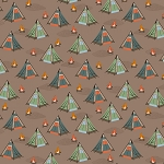Bear Camp 51560 3 Brown Tents Windham Fabrics