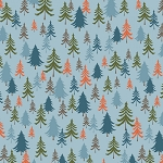 Bear Camp 51562 5 Blue Trees Windham Fabrics
