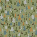 Bear Camp 51562 6 Green Trees Windham Fabrics