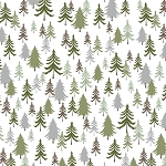 Bear Camp 51562 7 White Trees Windham Fabrics