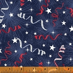 Pride and Honor 51764 1 Streamers Windham Fabrics