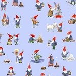 Frosty Blue Winter Gnomes