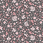 Colette 52052 2 Charcoal Scattered Bloom Windham Fabrics