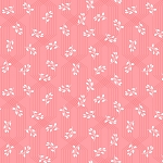 Colette 52054 7 Coral Lattice Leaves Windham Fabrics