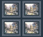 Thomas Kinkade The Night Before Christmas Digital Panel 5453B 99, Benartex