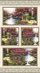Thomas Kinkade The Garden Prayer Digital Panel 5455B 99, Benartex
