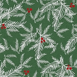Holiday Traditions 6545 66 Green Pine Needles, Jan Shade Beach by Henry Glass