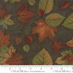 Endangered Sanctuary Flannel 6653 14F Forest Large Leaves, Holly Taylor by Moda