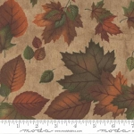 Endangered Sanctuary Flannel 6653 15F Cream Large Leaves, Holly Taylor by Moda