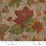 Endangered Sanctuary Flannel 6653 17F Pecan Large Leaves, Holly Taylor by Moda