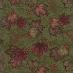 Country Road 6668 24 Northern Pine Maple Leaves, Holly Taylor by Moda