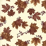 Country Road 6668 28 Church White Maple Leaves, Holly Taylor by Moda