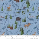 River Journey 6682 12 Light Blue Map, Holly Taylor by Moda