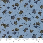 River Journey 6685 12 Light Blue Leaves, Holly Taylor by Moda