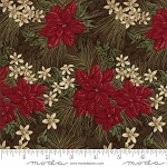 Forever Green 6691 19 Brown Poinsettia, Holly Taylor by Moda