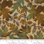 Fall Impressions Flannel 6701 11F Sesame Large Leaf, Holly Taylor by Moda