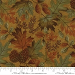 Fall Impressions Flannel 6701 12F Mustard Large Leaf, Holly Taylor by Moda
