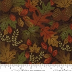 Fall Impressions Flannel 6701 14F Nutmeg Large Leaf, Holly Taylor by Moda