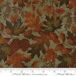 Fall Impressions Flannel 6701 18F Basil Large Leaf, Holly Taylor by Moda