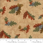 Fall Impressions Flannel 6702 11F Sesame Oak Leaf, Holly Taylor by Moda