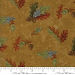 Fall Impressions Flannel 6702 12F Mustard Oak Leaf, Holly Taylor by Moda