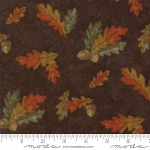 Fall Impressions Flannel 6702 14F Nutmeg Oak Leaf, Holly Taylor by Moda