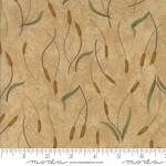 Fall Impressions Flannel 6703 11F Sesame Cattails, Holly Taylor by Moda