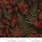 Autumn Reflections 6711 15 Green Shadow Leaves, Holly Taylor by Moda