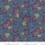 Summer on the Pond 6722 12 Heron Blue Leaves, Holly Taylor by Moda