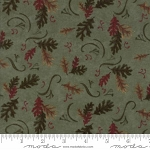 Return to Cub Lake Flannel 6741 13F Oak Leaves Light Green, Holly Taylor by Moda