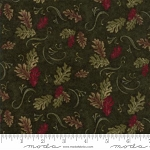 Return to Cub Lake Flannel 6741 14F Oak Leaves Dark Green, Holly Taylor by Moda