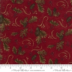 Return to Cub Lake Flannel 6741 16F Oak Leaves Red, Holly Taylor by Moda