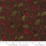 Return to Cub Lake Flannel 6741 18F Oak Leaves Dark Brown, Holly Taylor by Moda