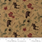Return to Cub Lake Flannel 6742 11F Animals Gold, Holly Taylor by Moda