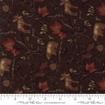 Return to Cub Lake Flannel 6742 18F Animals Dark Brown, Holly Taylor by Moda