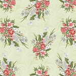 Magnificent Blooms 6782 40 Sage Floral Benartex