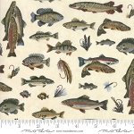 Lake Views 6801 13 Ecru Fish, Holly Taylor by Moda