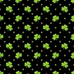Lucky Me 6852 99 Shamrocks Black, Henry Glass