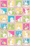 Hop To It 6853 21 Bunny Squares Panel, Henry Glass