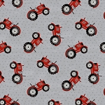 Country Life Tractor Toss 68545 939 Grey Wilmington Prints