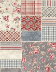 Farmhouse Chic 7216 293 Patchwork Wide Backing Wilmington Prints