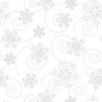 KimberBell Basics 8240 WW White Snowflakes, Maywood Studio