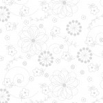 KimberBell Basics 8246 WW White Doodles, Maywood Studio