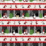Gnome Antics 82621 137 Border Stripe Wilmington Prints