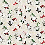 Gnome Antics 82624 137 Gnome Toss Lt Grey Wilmington Prints